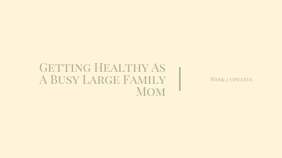 Getting healthy as a busy large family mom